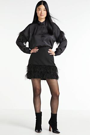 satijnen blouse CLARISSE zwart