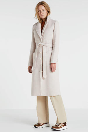 coat Manou met wol lichtroze