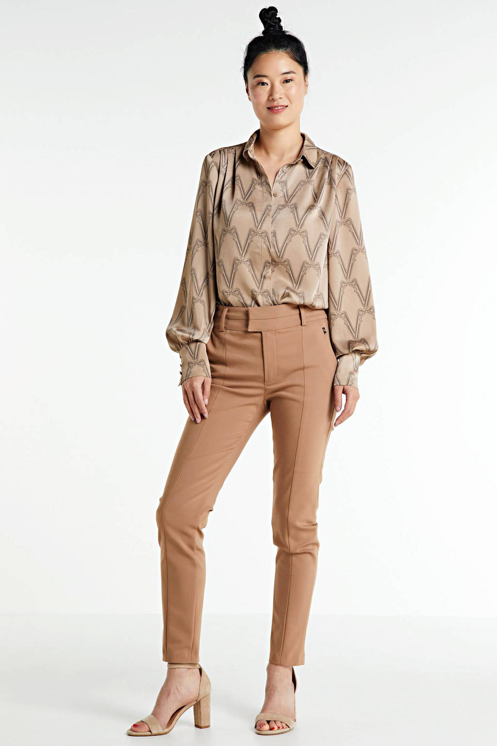 JOSH V blouse CANNES met all over print beige, Beige