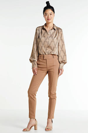 blouse CANNES met all over print beige