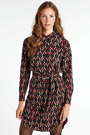 blousejurk Rozamund met all over print zwart/multi