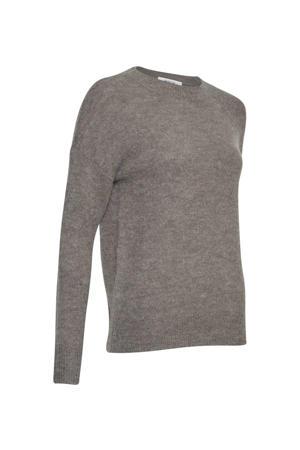 gemêleerde trui Femme Alpaca met wol grijs