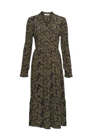 jurk Calie Morocco met all over print groen