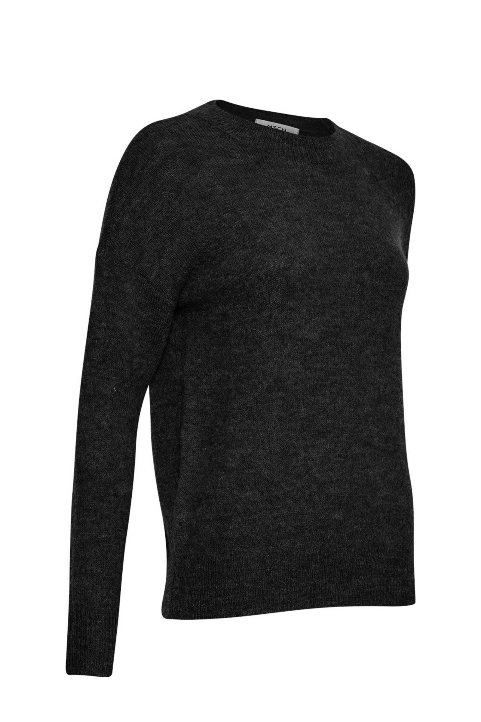 MSCH Copenhagen gemêleerde trui Femme Alpaca met wol zwart
