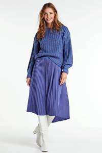 MSCH Copenhagen rok Senta van gerecycled polyester grijsblauw, Grijsblauw