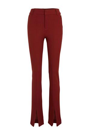 flared pantalon PAULETTE rood