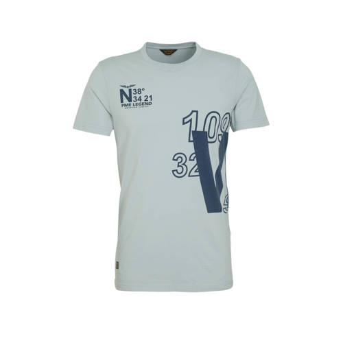 PME Legend T-shirt met printopdruk grijs