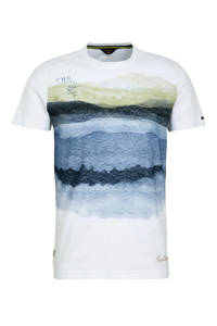 PME Legend dip-dye T-shirt wit, Wit