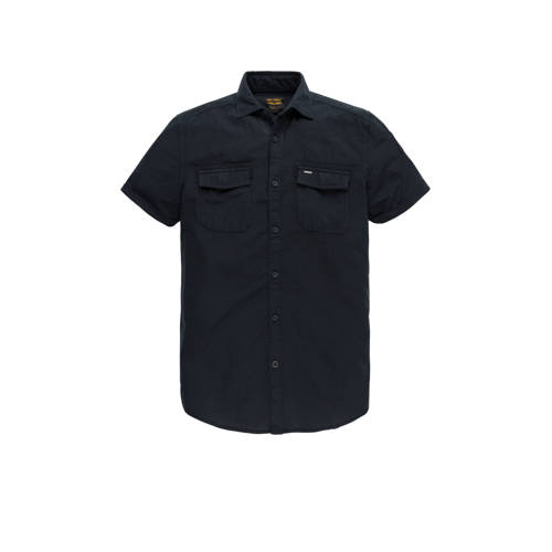 PME Legend slim fit overhemd donkerblauw