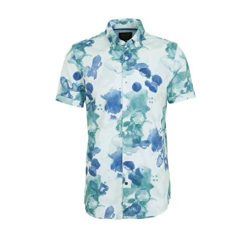 PME Legend slim fit overhemd met all over print li