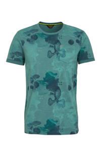 PME Legend T-shirt met all over print groen/blauw, Groen/blauw