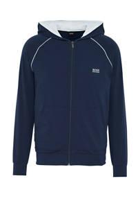 BOSS Bodywear sweatvest met capuchon donkerblauw, Donkerblauw