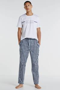 BOSS pyjamatop met printopdruk wit, Wit