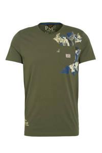 PME Legend T-shirt met printopdruk groen, Groen