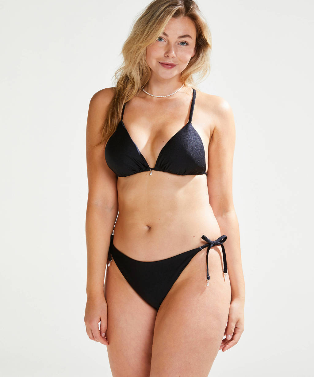 Hunkemöller bikinibroekje Cannes by Vivian Hoorn zwart, Zwart