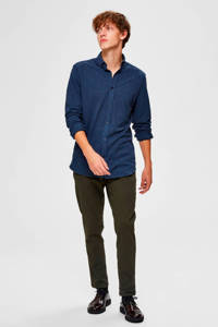 SELECTED HOMME slim fit overhemd donkerblauw, Donkerblauw