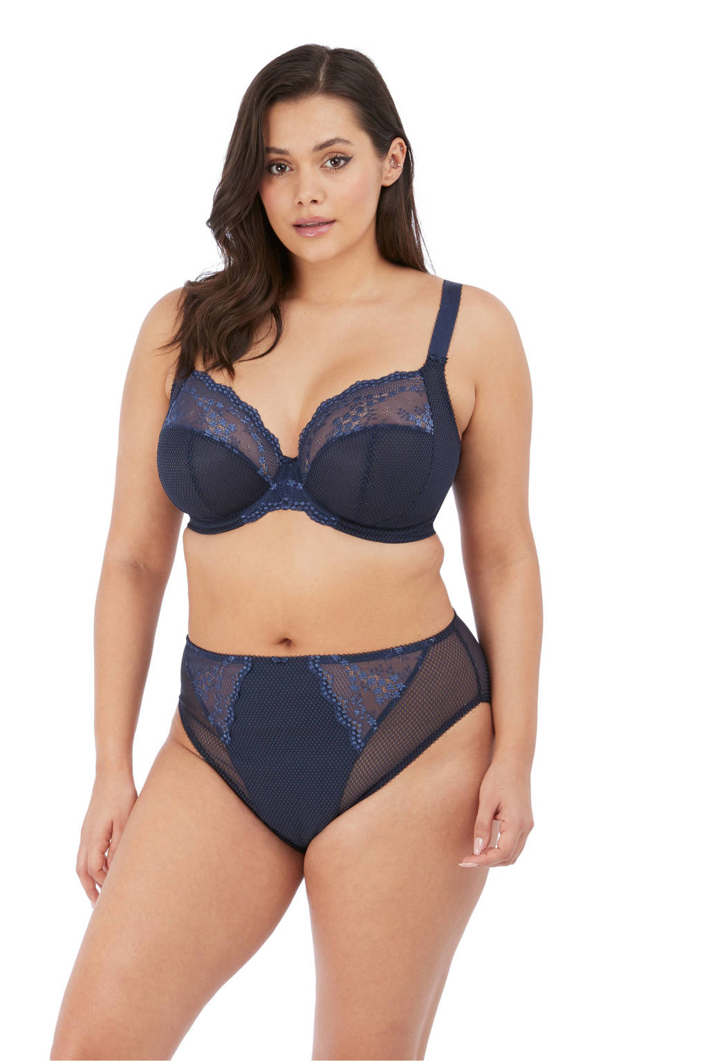 Elomi +size beugelbh Charley donkerblauw, Donkerblauw