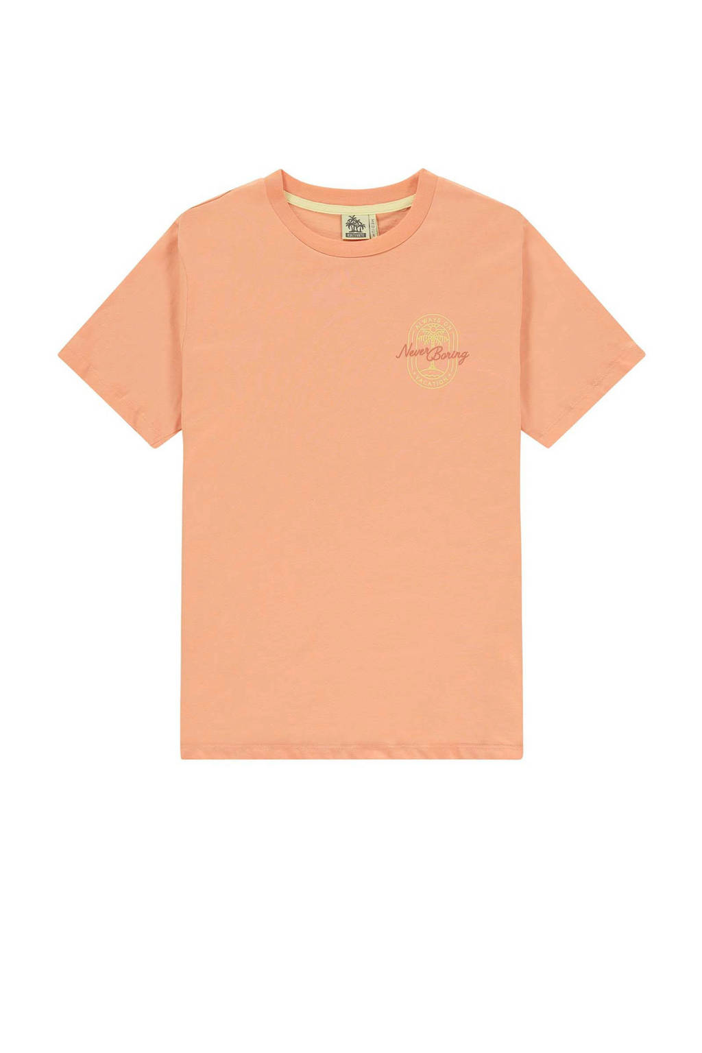 Kultivate T-shirt met printopdruk oranje/geel, Oranje/geel