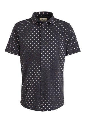 regular fit overhemd met all over print antraciet