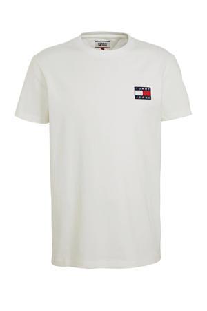 T-shirt met logo en patches wit