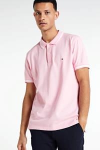 Tommy Hilfiger regular fit polo roze/wit, Roze/wit