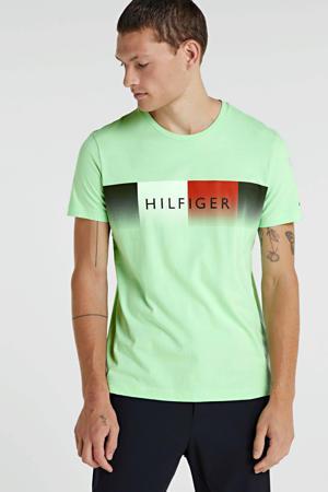 T-shirt van biologisch katoen limegroen