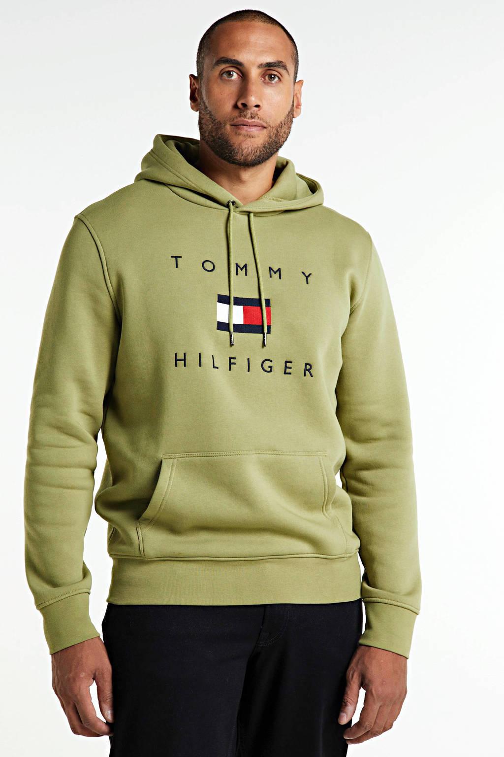 Tommy Hilfiger hoodie met printopdruk olijfgroen, Olijfgroen