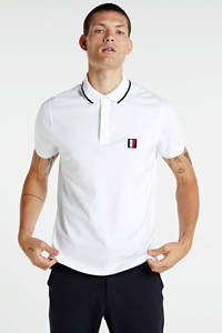 Tommy Hilfiger regular fit polo wit, Wit
