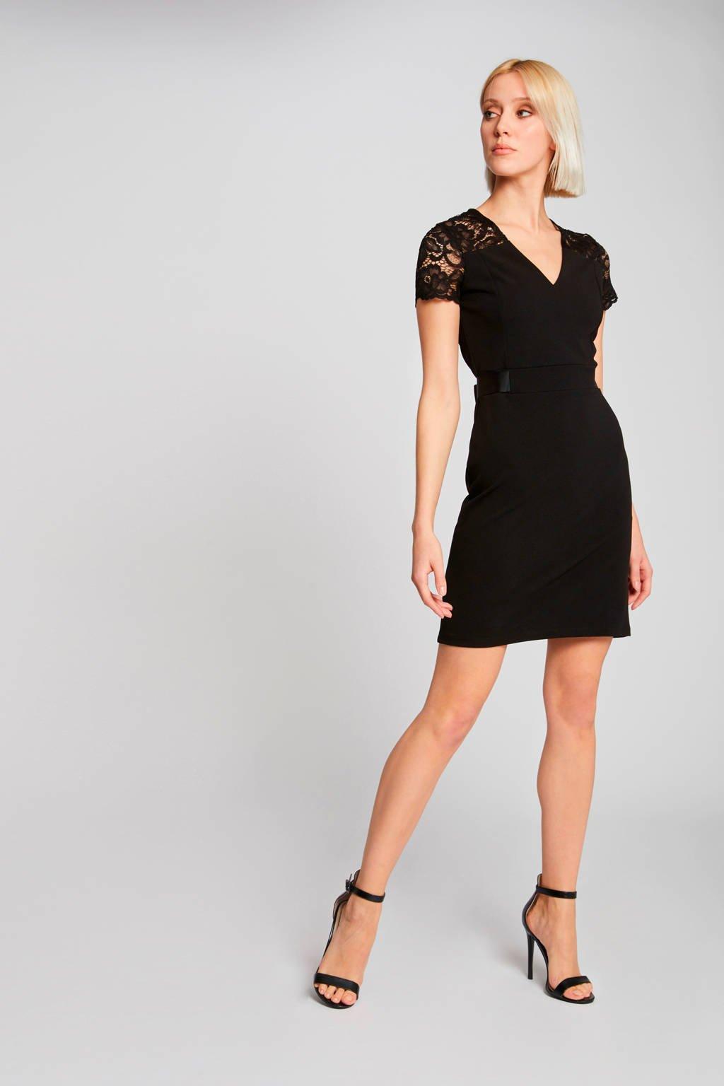 Morgan jurk en kant zwart, Zwart