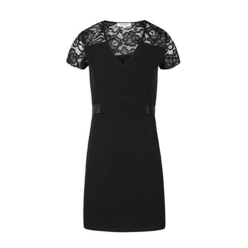 Morgan jurk en kant zwart