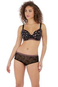Freya voorgevormde beugelbh Wild met all over print zwart/roze, Zwart/roze
