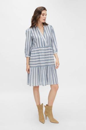 gestreepte jurk blauw/wit