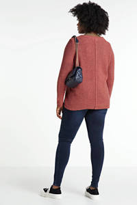 Zizzi high waist skinny jeans Amy dark denim, Dark denim