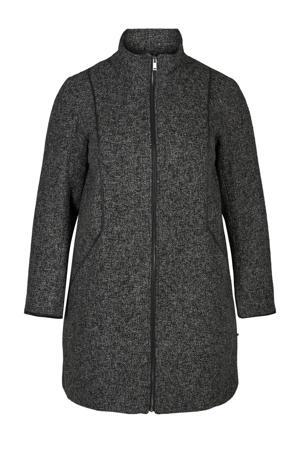gemêleerde coat tussen Nala grijs/zwart
