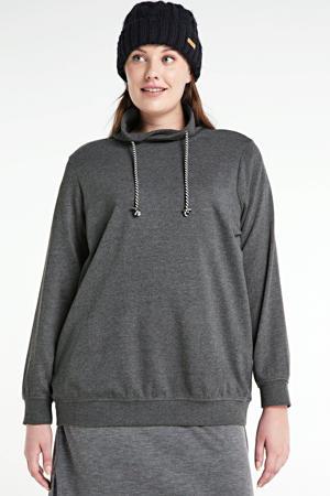 gemêleerde sweater Gissy antraciet