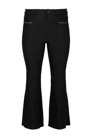 flared broek zwart/goud
