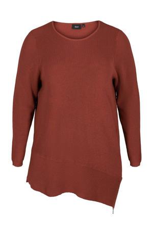 gebreide trui Joanne roodbruin