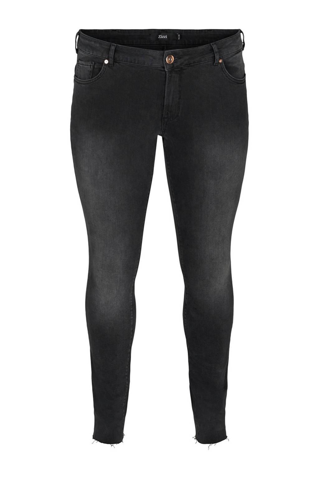 Zizzi skinny jeans Sanna antraciet, Antraciet