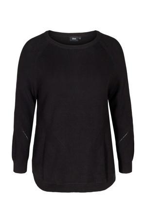 gebreide trui Joanne zwart