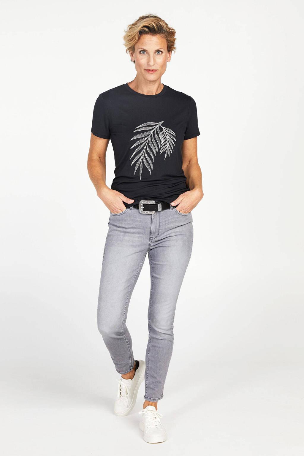 PROMISS T-shirt met printopdruk antraciet, Antraciet