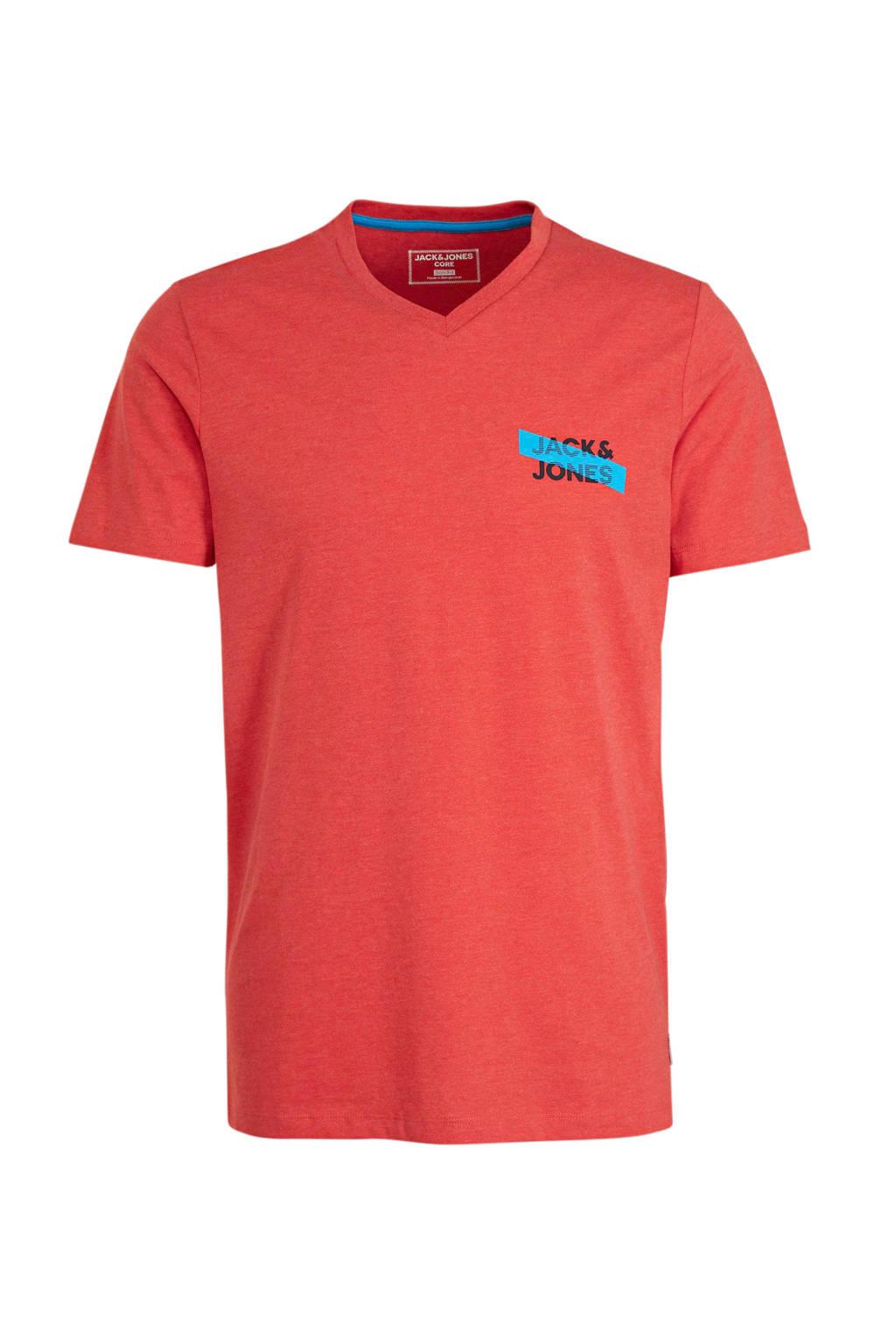 JACK & JONES CORE T-shirt met logo rood, Rood