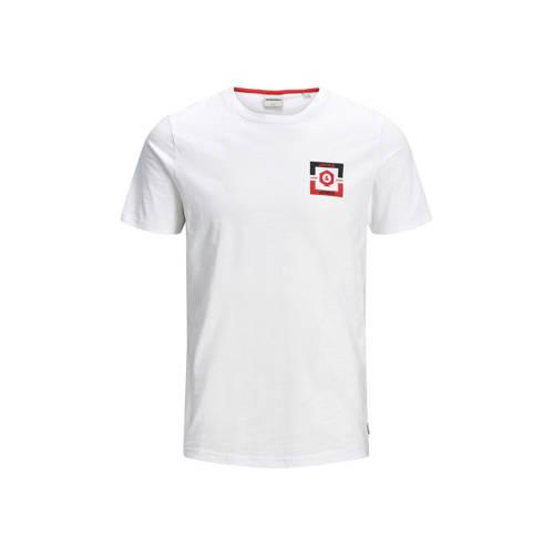 JACK & JONES CORE T-shirt met printopdruk wit