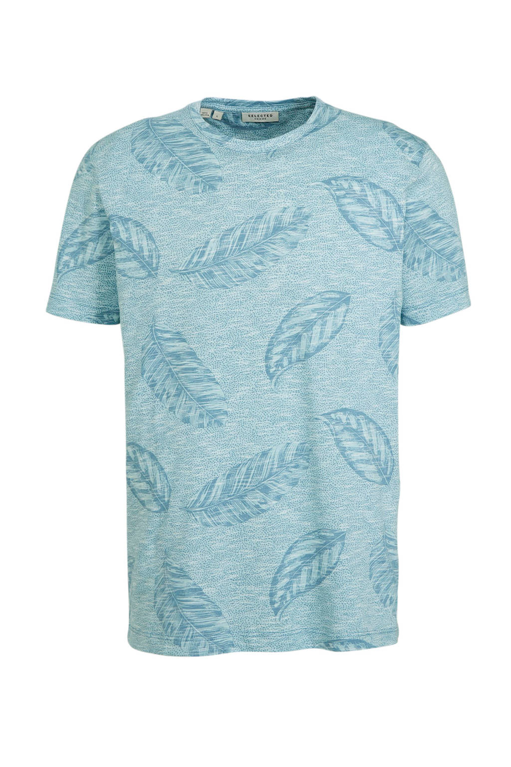 SELECTED HOMME T-shirt met all over print lichtblauw, Lichtblauw