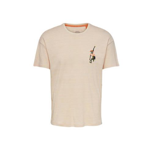 ONLY & SONS gestreept T-shirt van biologisch k