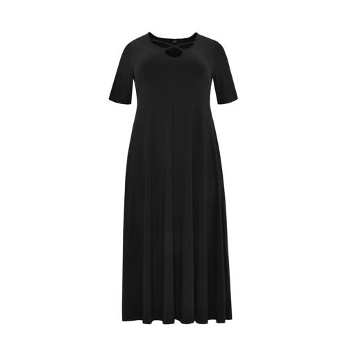 Yoek jurk en open detail zwart