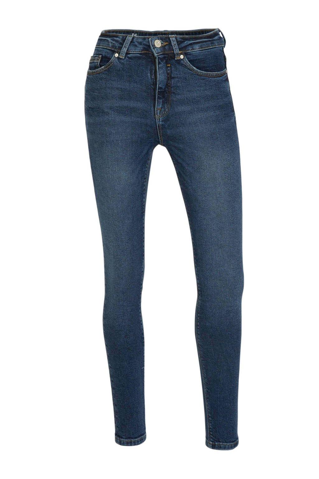 C&A Clockhouse high waist skinny jeans donkerblauw, Donkerblauw