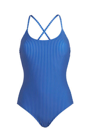 gestreept badpak blauw/wit