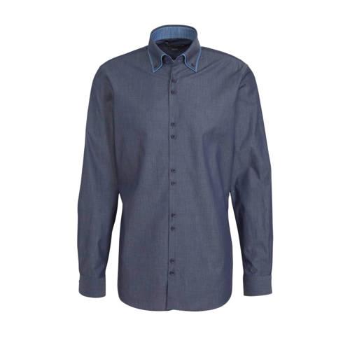 C&A Angelo Litrico slim fit overhemd grijsblau