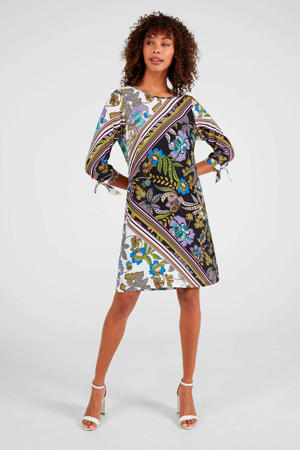 jurk Delany met all over print multicolor