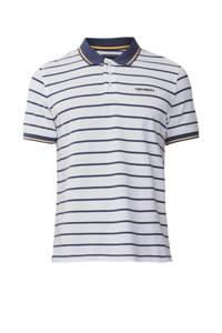 Tenson outdoor polo Gian wit/blauw, Wit